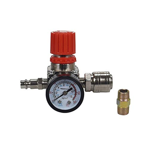 Air Compressor Pressure Regulator 1/4'Pneumatic Expansion Valve, Pressure Control Valve With 180psi 12bar Connection (Three-way valve)