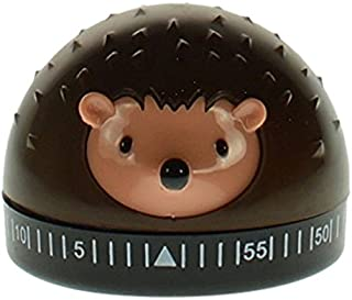Kikkerland Hedgehog 60-Minute Kitchen Timer, Brown