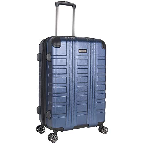 Kenneth Cole Reaction Scott's Corner Hardside Expandable 8-Wheel Spinner TSA Lock Travel Suitcase, Navy