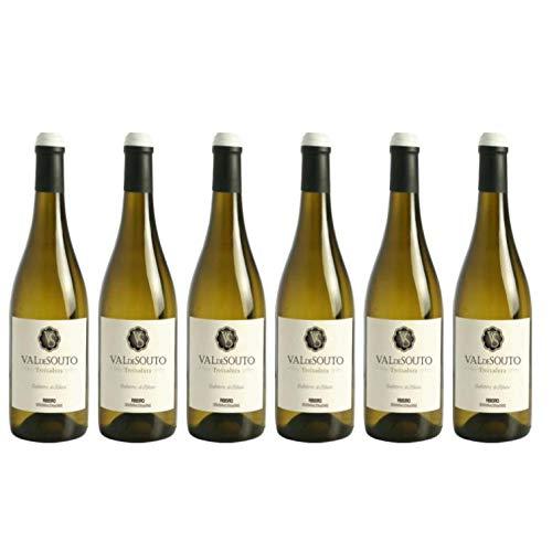 6 botellas de Vino Blanco exclusivo Bodega Val de Souto. Vino blanco origen España, Galicia. Denominación de origen Ribeiro. Uva: Treixadura. 75 cl por botella. Vino blanco gallego.