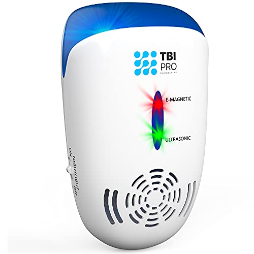 TBI Pro Ultrasonic Pest Repeller Wall Plug-in - Electromagnetic and Ionic Indoor Repellent Anti Mouse, Rats, Roach, Ants, Mosquito, Cockroach Control - Safe and Quiet Electronic Device - 1500 Sq.f