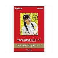 (業務用セット) キヤノン Canon純正プリンタ用紙 写真用紙・光沢 ゴールド GL-101A320 20枚入 【×2セット】 ds-1536981