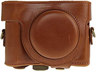 QGT Leather Camera Case Bag for Sony HX50 (Brown) (Color : Brown)
