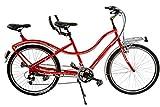 CICLI PUZONE Bici BIBICI Misura 26 Tandem Passeggio 21V Art. TANDEM26 (Rosso)