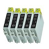 5Cartuchos de Tinta para Epson Stylus D68D88DX3800DX3850DX4800DX4200Reemplazar T0611