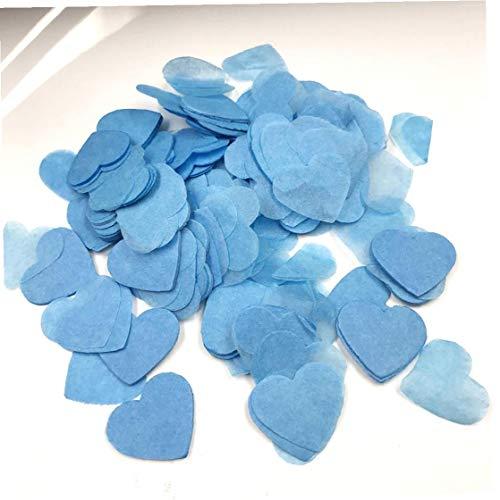 Kleurrijke confetti romantische liefde hart confetti bruiloft decor reps voor woonaccessoires feestbenodigdheden blauw 2,5 cm