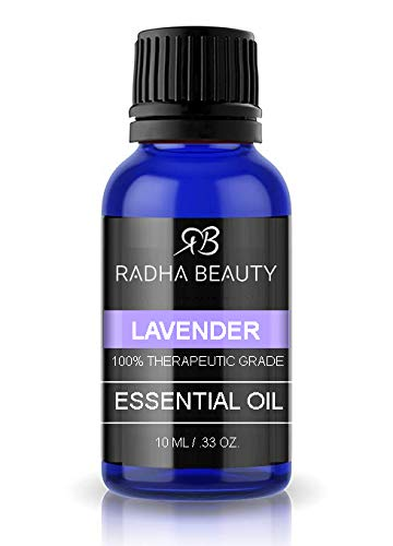 Radha Beauty Lavender Essential Oil 10ml  100% Natural amp Therapeutic Grade Steam Distilled for Aromatherapy Relaxation Sleep Laundry Stress amp Anxiety Relief Meditation Massage Headaches