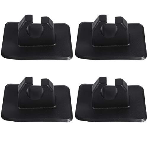 BESPORTBLE 4 soportes para remo de kayak, de plástico, para bote hinchable, para remo o kayaks, color negro
