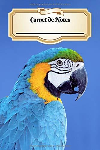 Carnet De Notes: Ara Bleu | Oiseau | A5 139 Pages Avec Papier Quadrillé 5 x 5 mm | Cahier d'écolier | Graph Paper Journal | Notebook | Espace pour votre nom, classe, cours