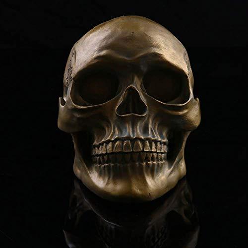 LXYZ Estatuas Adornos de jardn Modelo de crneo Humano Escena de Halloween Disfraz Prop Resina Crneo Pose.