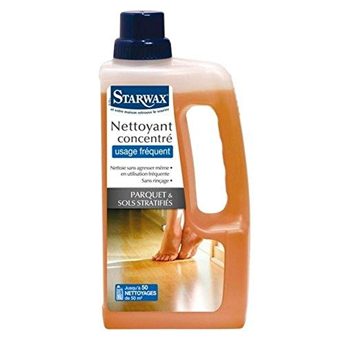 Starwax Nettoyant doux concentré tous parquets et sols stratifiés - Le bidon de 1L
