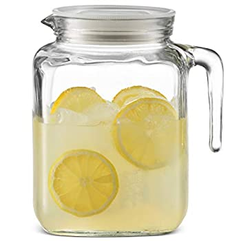 Best glass pitchers with lids Reviews