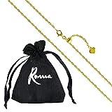 Roma Designer Jewelry 24' Italian Milano Twist Adjustable Chain (Gold)
