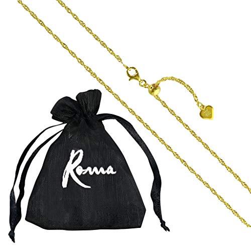 "Roma Designer Jewelry 24"" Italian Milano Twist Adjustable Chain (Gold)"