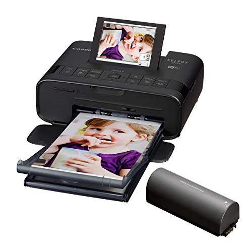 Canon SELPHY CP1300 Compact Photo Printer Battery Bundle (Black)