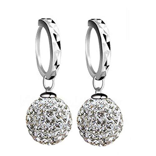 DZX Pendientes de Diamantes Pendientes Colgantes Pendientes sólidos Pendientes para Regalo Pendientes románticos Pendientes para Banquetes de Cuentas Pendiente para Boda