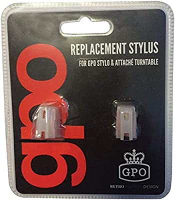 GPO Replacement Needles for Stylo, Stylo II, Soho, Attache, Ambassador, Piccadilly, High-Quality Needle Blister Pack of 2 Replacement Stylus for Turntables