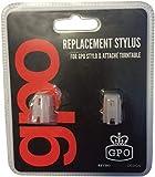 GPO Agujas de repuesto para Stylo, Stylo II, Soho, Attache, Ambassador, Piccadilly (Pack de 2 agujas con instrucciones de instalación)
