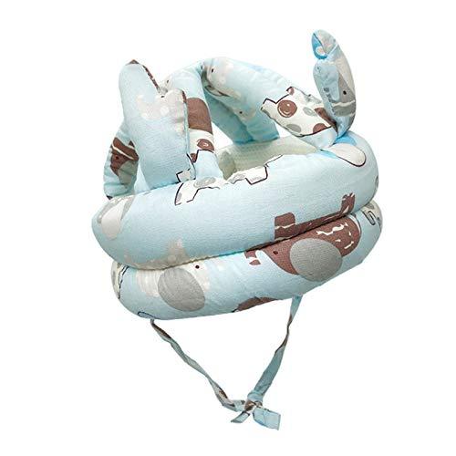 freneci Casco de Seguridad Y Protección para La Cabeza Del Bebé Gorra Protectora para Gatear - Azul