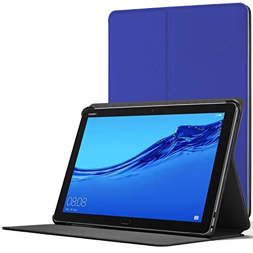 Forefront Cases Smart Funda para Huawei Mediapad M5 Lite 10, Estuche Protector con Cierre Magnético para Mediapad M5 Lite 10 Pulgadas, Smart Auto Sueño Estela Función, Azul Real