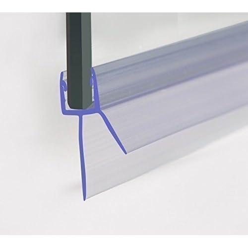 Shower Screen Seal Bath Door Strip • Glass Thickness 6-8mm • SEALS GAP UPTO 20mm