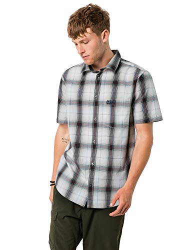 Jack Wolfskin Hot Chili Chemise Homme Dusty Grey Checks FR: 3XL (Taille Fabricant: XXXL)