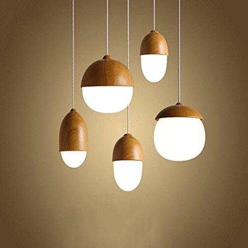 Illumination de lumière pendentif en bois de mode / 1 lumière/lustre de lustre - lustre en verre de barre de restaurant (Couleur : 4 heads (rectangular top))