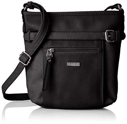 TOM TAILOR Umhängetasche Damen, Juna, Schwarz, 26x24x7.5 cm,, TOM TAILOR Taschen für Damen TOM TAILOR Handtaschen, Taschen für Damen, klein