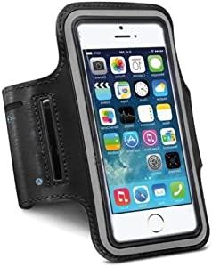 Sports Running Armband Case Cover Holder for iPhone 6 & Samsung S5, Black