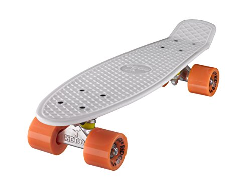 Ridge Mini Cruiser Skateboard, Bianco