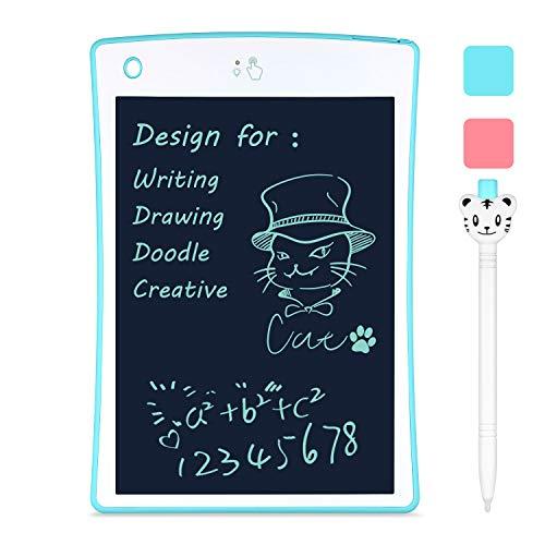 Schreibtafel LCD Tafel Kinder Maltafel Teilweise Löschbar Zaubertafel 8.5 Zoll Elektronisch Zeichenblock Digital LCD-Tablet Zeichenbrett Grafiktablett mit Anti-Clearance Funktion für Notieren Zeichnen