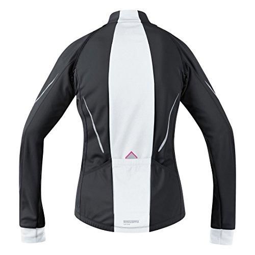 GORE WEAR Damen Jacke Phantom 2.0 Windstopper Soft Shell, Black/White, 36 - 5