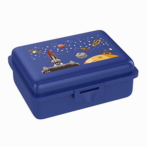 Fizzii Lunchbox (Inkl. Obst-/ Gemüsefach, schadstofffrei, spülmaschinenfest, Motiv: Weltraum)