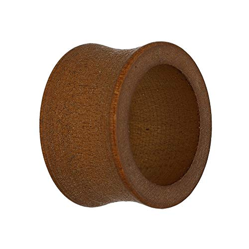Treuheld® | Holz Ohr Flesh Tunnel | Braun | Double Flared 14 mm