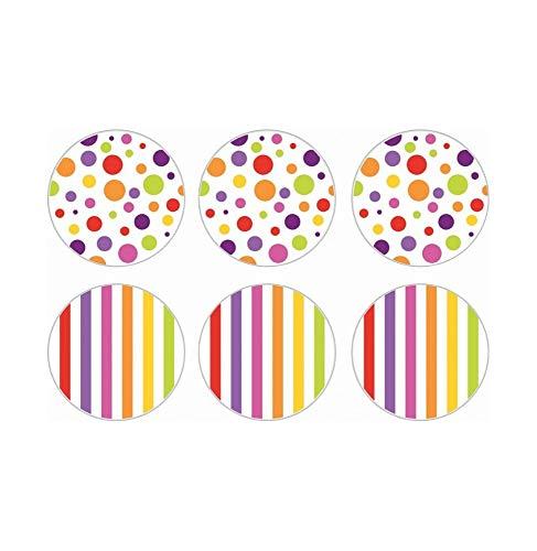 Incidence Paris 24995 Dessous DE Verre-Les colorissimes (Boite de 6), Multicolore, 10x10x0,3 cm