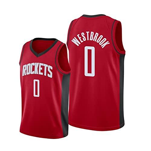 ZRHZB Camiseta de Baloncesto para Hombre de La NBA, Houston Rockets 0# Westbrook Chaleco Sin Mangas de Malla Transpirable Resistente Al Desgaste Y Suave, Camiseta Conmemorativa de Los Fanáticos,XXL