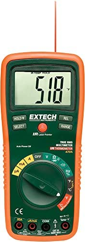 Extech EX470A Professional True RMS Multimeter with 12 Functions and IR Thermometer product image