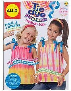 ALEX Tie Dye Fashion Ribbon Top