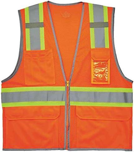 Ergodyne 24135 GloWear 8246Z ANSI High Visibility Two Tone Mesh Safety Vest with Reflective product image