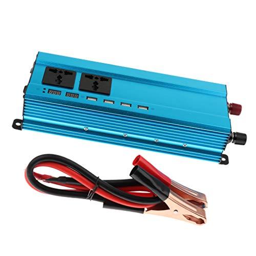 Shiwaki 5000W Reiner Sinus Spannungswandler Wechselrichter 24V auf 230V Inverter für Auto mit USB Kabel