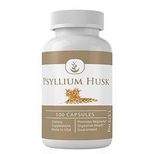 Psyllium Husk Capsules (100 Capsules, 1575 mg Serving) (3 Capsules/Serving) Fiber Powder Supplement (Packaging May Vary)