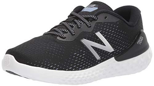 New Balance Women's Fresh Foam 1365 V1 Walking Shoe, Black/Purple/Silver Metallic, 7.5 XW US