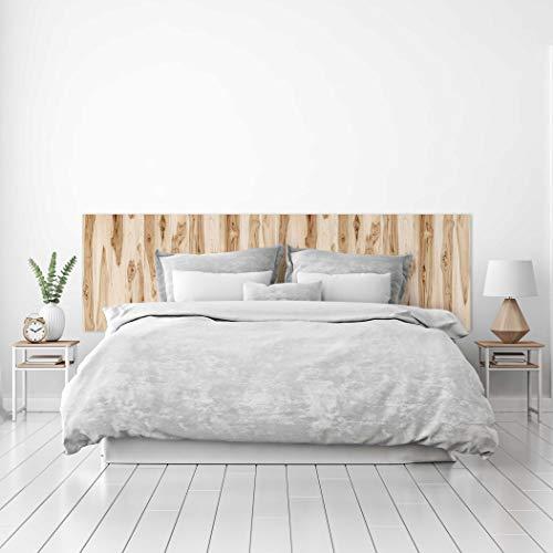 Megadecor hoofdeinde voor bed, PVC, decoratief, houttextuur, met vele knoppen, verschillende maten 115 cm x 60 cm