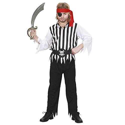 Widmann 2626 Costume de Pirate pour Enfant, Chemise, Pantalon, Ceinture et Bandeau