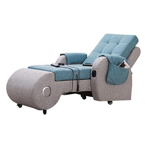 HYYQG - Sofá para Masaje, salón Lazy Couch, sillón con Respaldo Alto, Altavoz Bluetooth, MP3, Masaje de vibración, cojín de jardín para Exteriores, Asiento para Estadio portátil, Azul