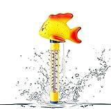 *Vegena - Termòmetre flotant per a piscina, termòmetre d'aigua, per a piscines interiors i exteriors, jacuzzi, aquaris i estanys de peixos, peix daurat