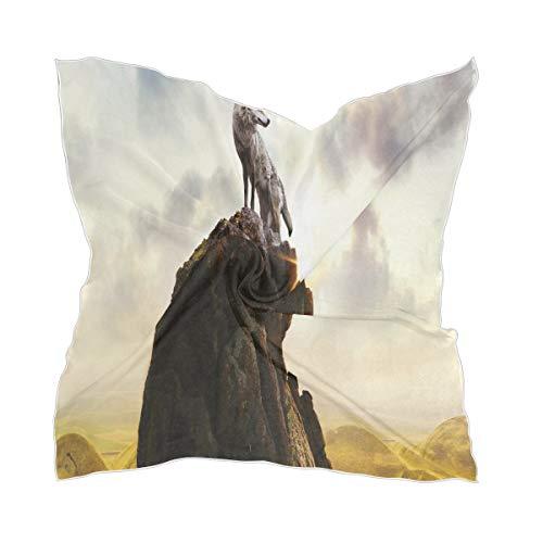 XiangHeFu Hilltop Lonely Wolf vrouwen chiffon zakdoek zijden sjaal hoofddeksel dun schier