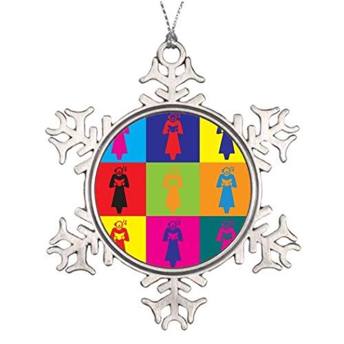 Cukudy Koor Pop Art Retro Xmas Decoratie Sneeuwvlok Ornamenten 2018 Kerstboom Hanging Present
