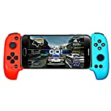 Bluetooth-Game-Controller, Gamepad Multimedia-Game-Controller Joystick Kompatibel mit Phone8 / XR/XS Ios/Android Handy Tablet,Red and Blue
