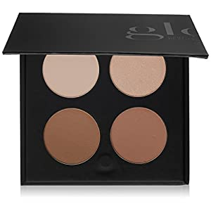 Glo Skin Beauty Contour Kit , Face Contour and Highlight Palette with Instructions , 2 Shade...